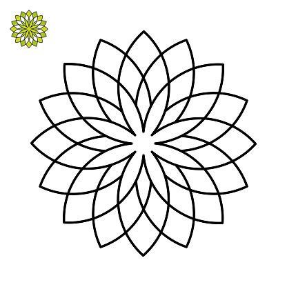 Blütenblätter Malvorlage