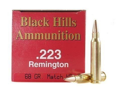 Black Hills 223 Remington 68gr Heavy Match Hollow Point