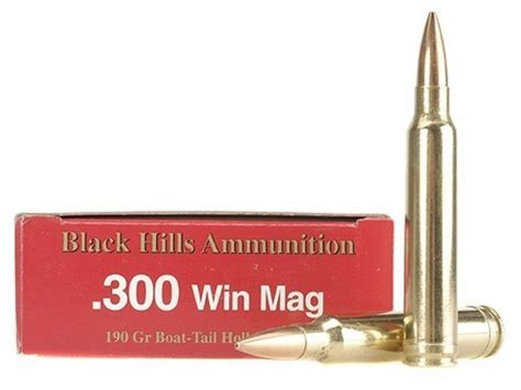 Black Hills 300 Winchester Magnum Ammo 190 Grain Match