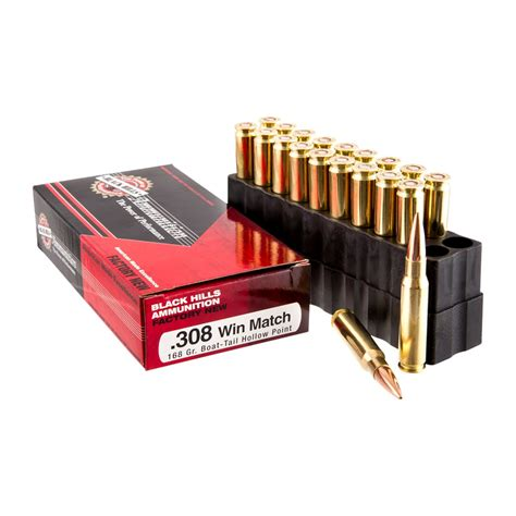 Black Hills 308 Winchester Match 168gr HP Ammo For Sale