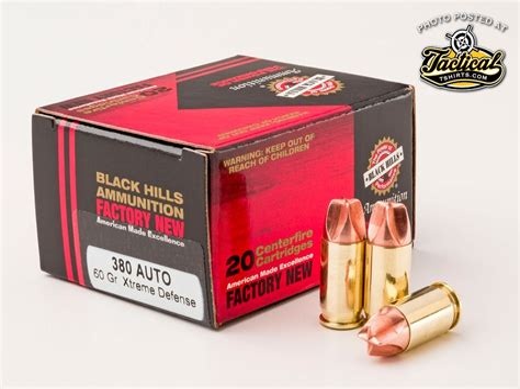 Black Hills 380 Auto Xtreme Defense Ammunition Ammo