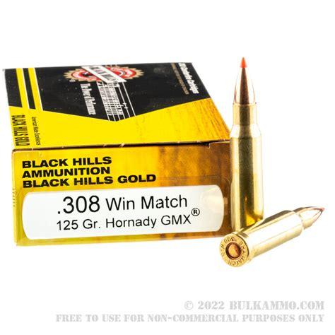 Black Hills Gold Ammo 308 Winchester 125gr Gmx 308 Winchester 125gr Gmx 20box