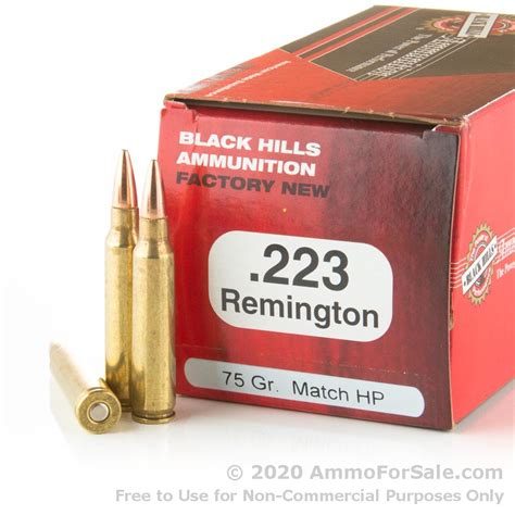 Black Hills Shooters Supply 50 Rds Of 223 Ammo