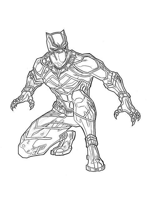 Black Panther Malvorlage