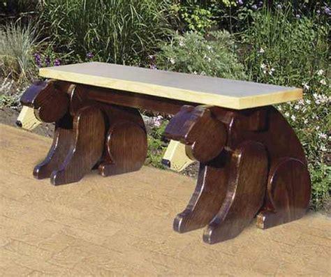Black bear bench woodworking plan Image