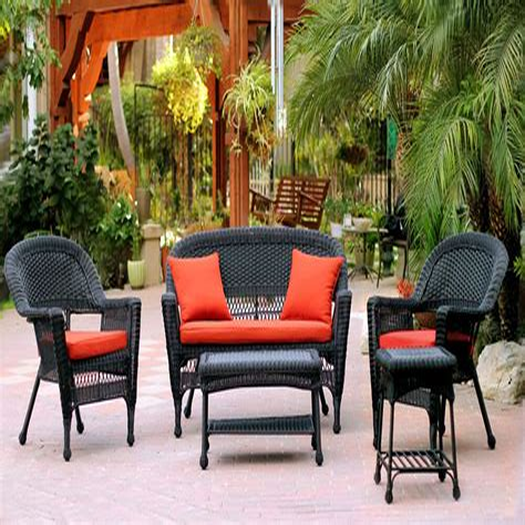Black wicker patio furniture Image