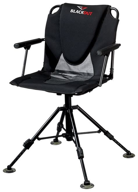 Blackout Swivel Hard Arm Chair