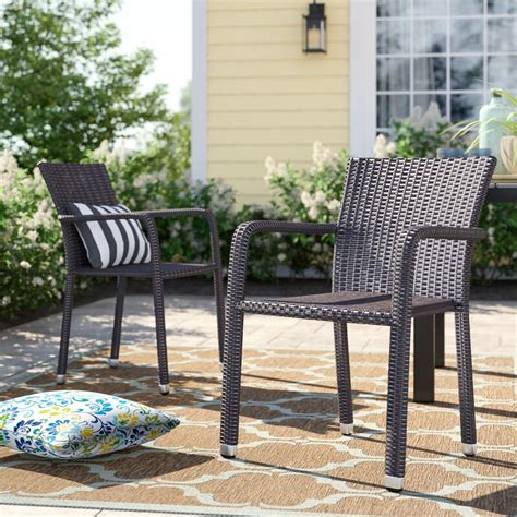 Blakely Stacking Patio Dining Chair (Set of 4)