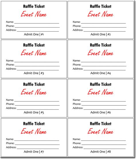 Blank Raffle Ticket Template CV Templates Download Free CV Templates [optimizareseo.online]