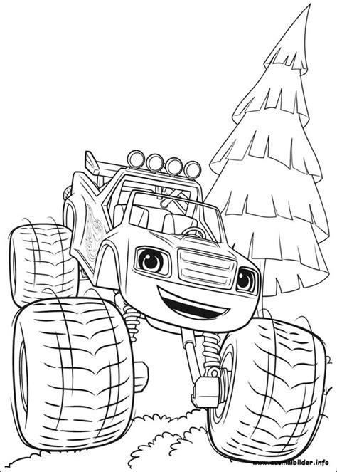 Blaze Und Die Monster Maschinen Ausmalbilder