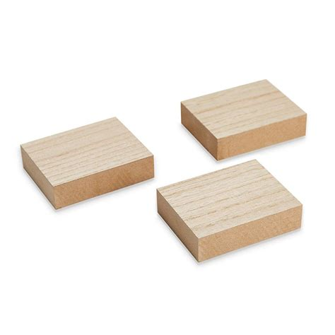 Blocks of wood for crafts Image