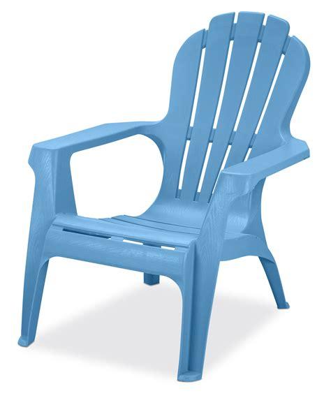 Blue plastic adirondack chairs Image