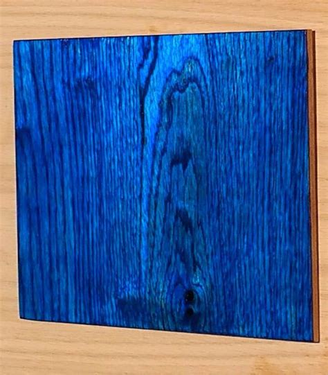 Blue wood stain Image