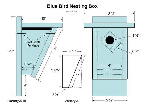 Bluebird houses plans Image