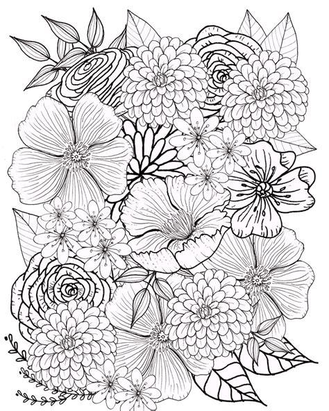 Blumen Ausmalbilder Erwachsene