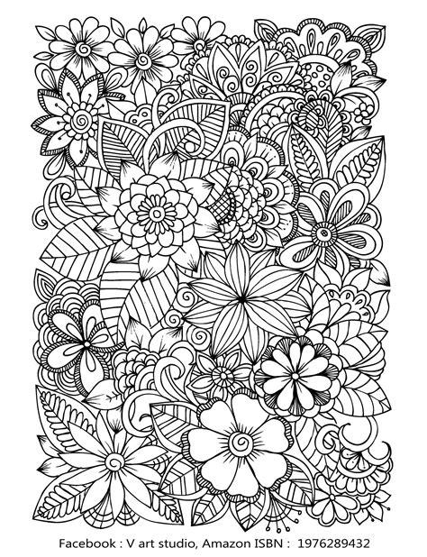 Blumen Ausmalbilder Für Erwachsene