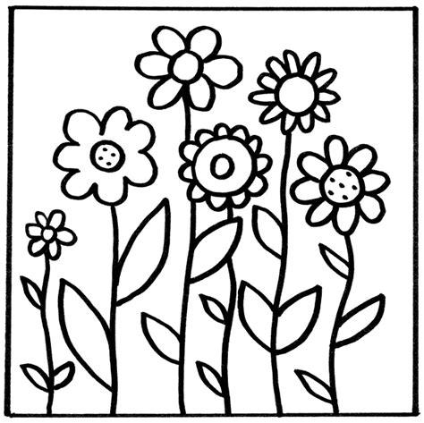 Blumen Malvorlage Kinder