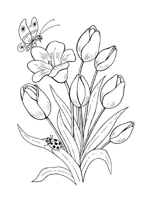 Blumen Malvorlagen Kostenlos Online