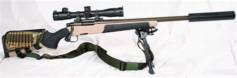 Bolt Action Designated Marksman Rifle And Bolt Action Rifle Cerakote Tungsten
