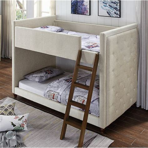 Bonneau twin over twin bunk bed with storage by harriet bee Image