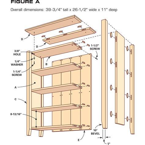 Bookcase shelf dimensions Image