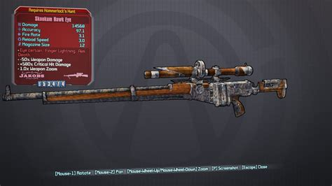 Borderlands 2 Sniper Rifle Without Scope