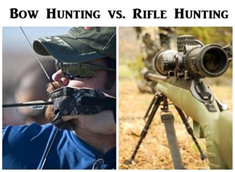 Bow Vs Rifle Deer Hunting