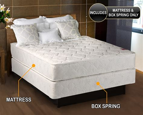Box spring full size bed Image