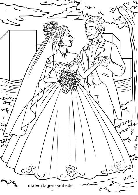 Braut Malvorlage