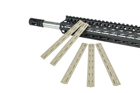 Bravo-Company Bravo Company Black Keymod Rails With Flat Dark Earth Covers.