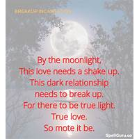 Break up spells immediately