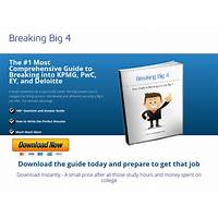 Breaking big 4 ebook guide to breaking into deloitte, pwc, kpmg & ey inexpensive