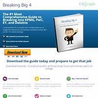 Breaking big 4 ebook guide to breaking into deloitte, pwc, kpmg & ey does it work?