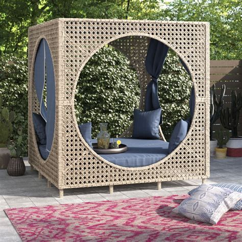 Brennon Cube Patio Daybed with Cushions