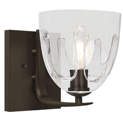 Brian 1-Light Sculpted Bath Sconce
