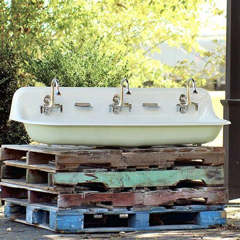 Brockway Farm Cast Iron Porcelain Trough Sink Package