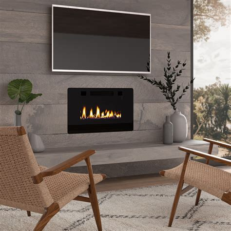 Brodhead Recessed Wall Mounted Insert Electric Firepalce Insert