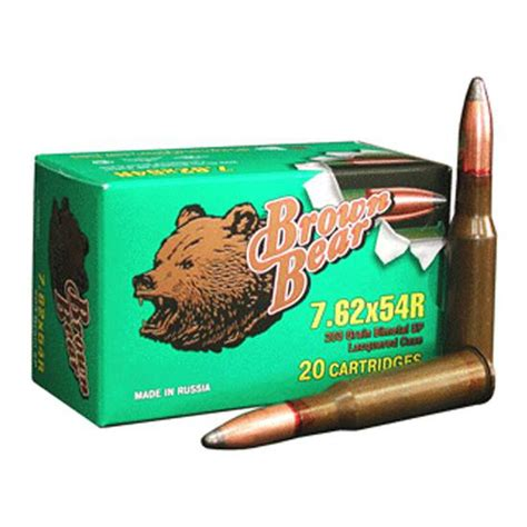 Brown Bear 7 62x54r Sp 203 Grain 20 Rounds Low Price
