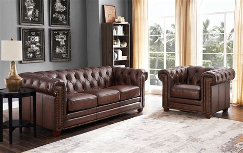 Brown Leather Sectional Sofas