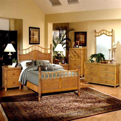 Brown Wicker Bedroom Furniture