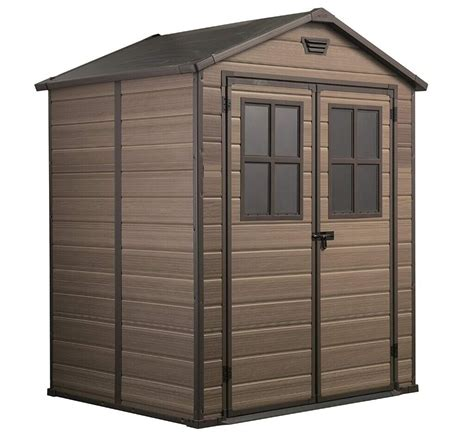 Brown plastic shed Image