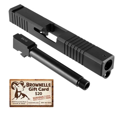 Brownells 19ls Slide Barrel Kit For Glock 19ls Rmr Window Slide Barrel Kit Thd