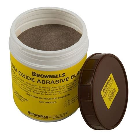 BROWNELLS ALUMINUM OXIDE ABRASIVE BLASTING GRIT Brownells