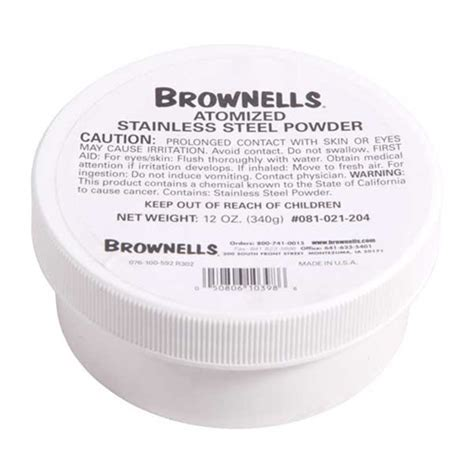 Brownells Atomized Metals 12 Oz Atomized Steel