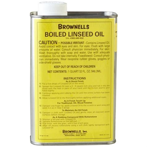 Brownells Boiled Linseed Oil Pint Linseed Oil