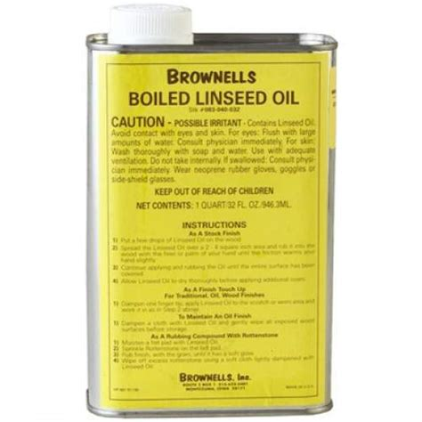 Brownells Boiled Linseed Oil Quart Linseed Oil