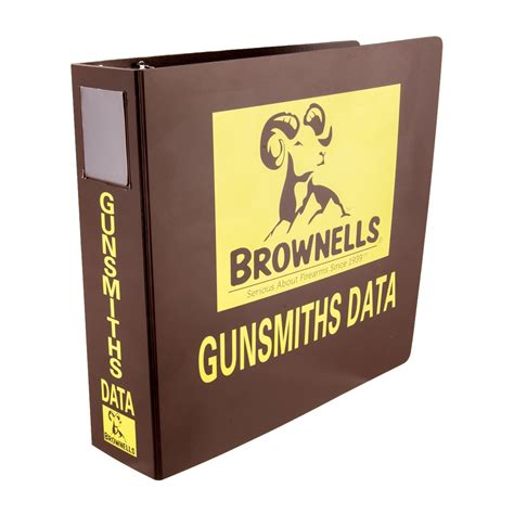 Brownells Data Ring Binder For Loose Leaf Edition 2 1 2