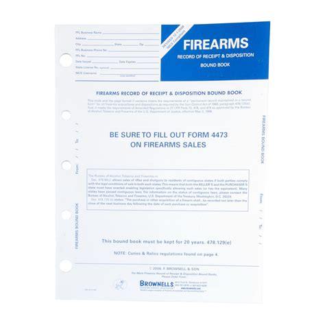 Brownells Firearms Record Book10 Pack