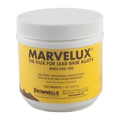 Brownells Marvelux Bullet Casting Flux 1 Carton 1 Lb Marvelux