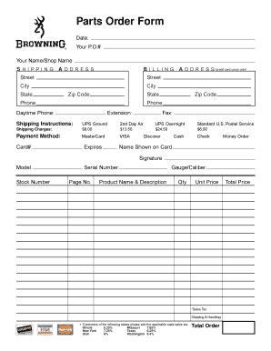 Brownells Order Missing Parts